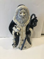 Dedham Pottery 1999 Santa Potting Shed Limited Edition Excellent Preowned 13andrdquo