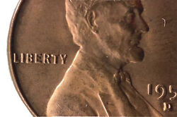 1955 Red Double Die Lincoln Wheat Cent Poor Man'sddo Make An Offer