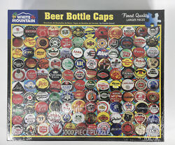 White Mountain 1000pc. Puzzle Beer Bottle Caps 24in X 30in Sealed