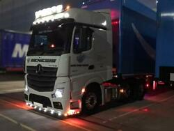 To Fit 2019+ Mercedes Actros Mp5 Streamspace Roof Bar+leds+led Spots+beacon X2