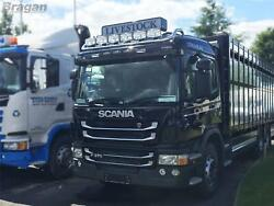 To Fit Scania 4 Series Standard Sleeper Roof Bar+jumbo Led Spots+clear Beacons