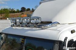 To Fit Mitsubishi Sterling 360 Stainless Roof Bar B + Jumbo Led Spots + Clamps