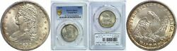 1839 Bust Half Dollar Pcgs Ms-61 Capped Bust