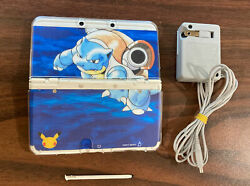 Dual Ips New Nintendo 3ds 20th Anniversary Blastoise Case 60 Games And Charger