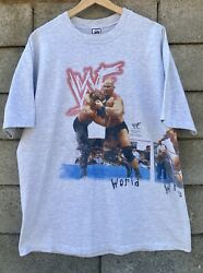 Vintage 1999 Savvy Wwf Wresling Tee Stone Cold Undertaker The Rock 23/30