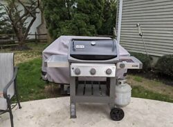 Weber Spirit 3 Burner Folding Bbq Gas Grill Perfect Fathers Day Gift Brand New