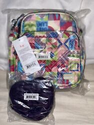 Lug Can Can 2 Convertible Crossbody Small World Multi And Concord Heart Pouch $57.00