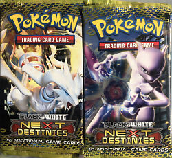 Pokemon Black And White Next Destinies- 22 Factory Sealed Packs Over Half A Box