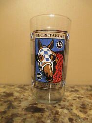 Secretariat Lim. Ed. Ketucky Derby Glass Tumbler - Signed By Owner Penny Chenery