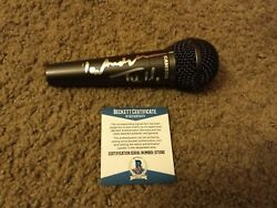 Ian Anderson Jethro Tull Signed Microphone Aqualung Beckett Certified D71392 Coa