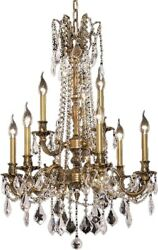 Rosalia Chandelier Traditional Antique 9-light French Gold 60w