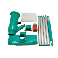 Swimming Pool Vacuum Cleaner Brush Leaf Dust Eater Wheels And Bag With Us New