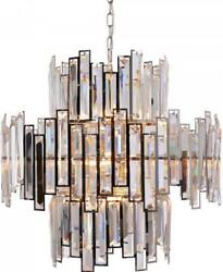 Chandelier Abstract 14-light Stainless Steel Crystal 40w