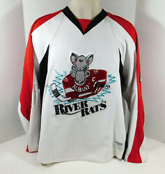 2009-10 Albany River Rats 6 Game Issued White Jersey 58 Dp08649