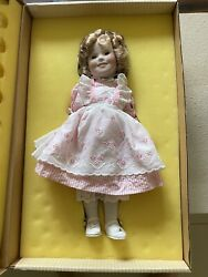 """Ideal Toy 1983 16"""" Porcelain Shirley Temple Doll Limited Edition New In Box"""