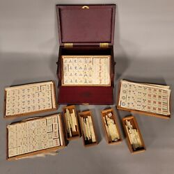 Vintage 1920s Pung Chow Mahjong Set Pyralin/celluloid - Hulmans - Indy 500 Owner