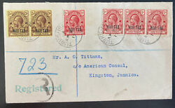 1917 Turks And Caicos Island Cover To Kingston Jamaica Tax War Stamp