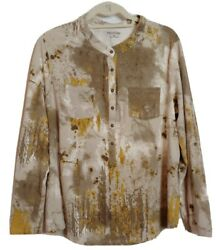 Relativity 2x Camouflage Brown Women's Top Long Sleeve Super Soft