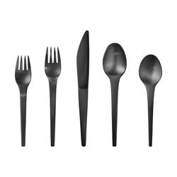 Caravel Black By Georg Jensen Stainless Steel Flatware Set Service For 8 - New