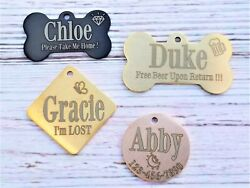 Personalized Dog Tags Engraved Pet Id Tags Dog Id Tag Made In Usa