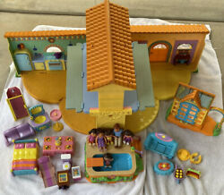 Dora The Explorer Pop-up Talking Doll House, Greenhouse, Pool + Accessories