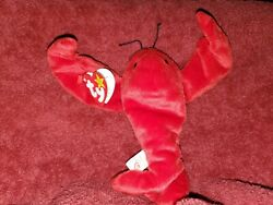 Ty Beanie Baby Pinchers The Lobster With Errors Pvc Pellets 1993