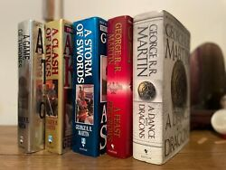 Game Of Thrones Books 1-5 George R R Martin All 1st/1sts One Signed