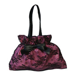 Women#x27;s Pink Evening Clutch Bags with Lace Tulle and Bow AU $25.00