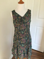 SELLY#x27;S SUMMER FLORAL DRESS SIZE SMALL WOMEN ZIP UP $24.99