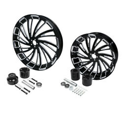 21 Front And 18'' Rear Wheel Rim W/hub Fit For Harley Touring Electra Glide 08-21