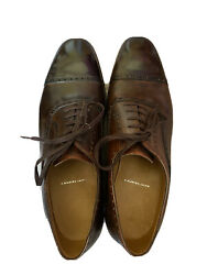 1455 Saint Crispin's Men's Dress Shoes 522 Tipped Oxford Brown Shaded