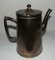 1940and039s Grand Silver Co. Nickel Silver Wear-brite Coffee/tea Carafe Hinged Lid