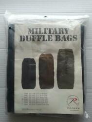 Rothco Military Duffle Bags 21 × 36 Black New In Sealed Bag Part 3336
