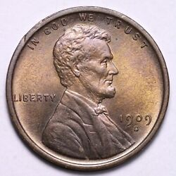 1909-s Vdb Lincoln Wheat Cent Penny Choice Bu Awesome Free Shipping E703 Acgjk
