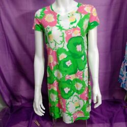 Lilly Pulitzer Green Pink Floral Dress Size Small Wfd