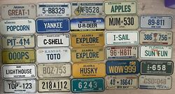 32 Vintage License Plate 70-90s Cereal Premium Collectible State Mini Bike Plate