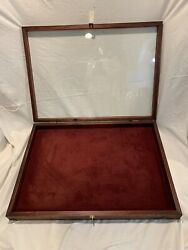 Vintage Old Antique Glass Top Showcase/general Store Display Case Jewelry 816