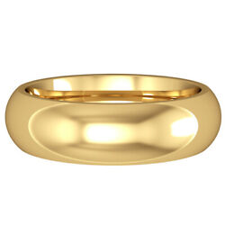 Jewelco London 18ct Yellow Gold 6mm Court-shaped Wedding Band Commitment Ring
