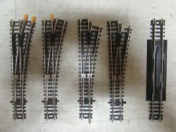 4 Atlas Nickle/silver Switch Turnouts Code 80 N-scale Lot 985