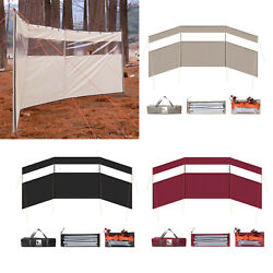 Camping Wind Shield Stand Cooking Grills Gas Stove Windscreen Barbecue Beach