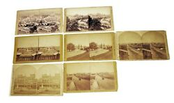 Lot Of 7 Stereoviews Of 1876 Centennial Exposition At Phila Scenes -james Cremer