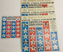 Our Childrens Heritage Vol 2,3,6 Listen And Read Series Hartford Courant Ct Lp Lot