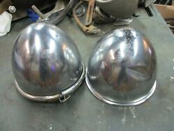 1937 Cord Fog Lights, Fog King,no Lenses, One Has Dent As Seen In Photo
