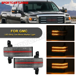 Sequential Led Side Mirror Signal Lights For 2015-19 Chevy Silverado Gmc Sierra