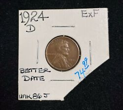 1924-d Lincoln Wheat Penny Exf
