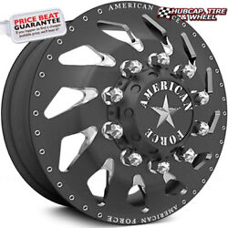 American Force Slayer 28x8.25 Black Dually Wheelset Of 6-forged