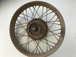 Harley Davidson Pre War Front Wheel Plate And Brakes Complete Original Paint