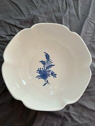 And Co Delft 1996 Blue And White Floral 9 1/4 Bowl Portuguese