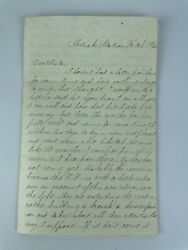 Post Civil War Letter February 19th 1865 Tells Of Complaint From General Grant