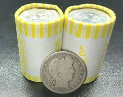 Unsearched Half Dollar Coin Roll With Bonus 90 Silver U.s. Barber Coin